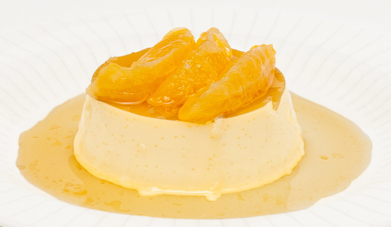 Creme Caramel with Oranges