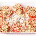 Baked fish and tomatoes with tasty breadcrumbs