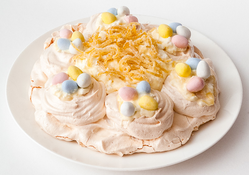 Easter Lemon Pavlova