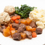 Hearty Beef Casserole with Herb Dumplings