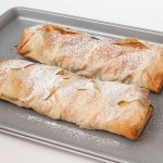 Apple Strudel on tray