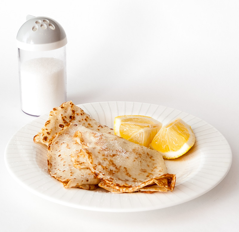 Crêpes with Lemon and Sugar