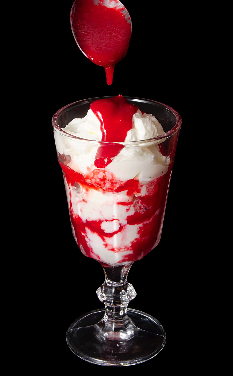 Raspberry Ice Cream Sundae