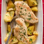 Garlic Chicken and Crispy Potatoes