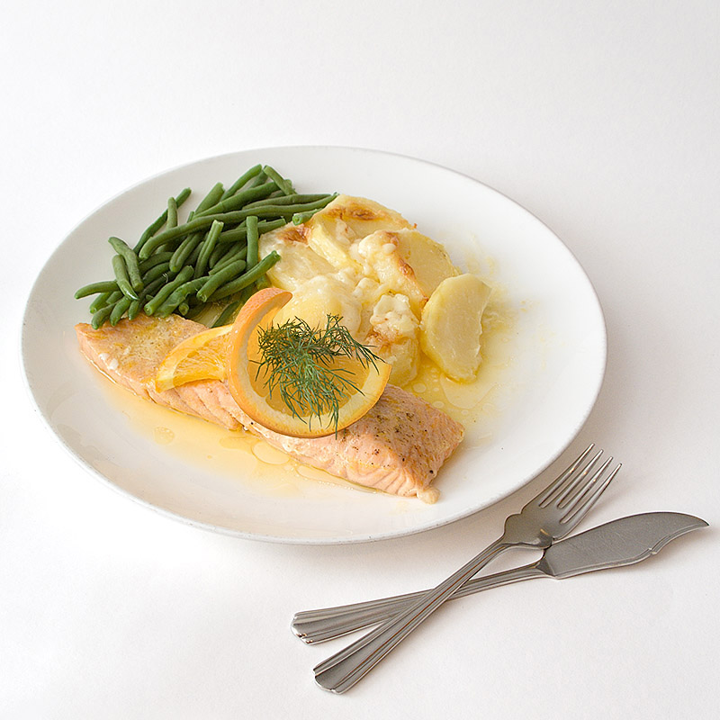 Salmon Fillets in an Orange Butter Sauce