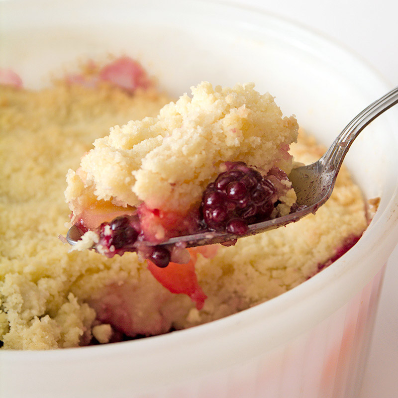Classic Blackberry and Apple Crumble