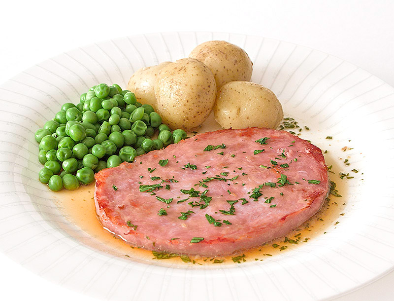 Gammon Steak with a Clear Parsley Sauce