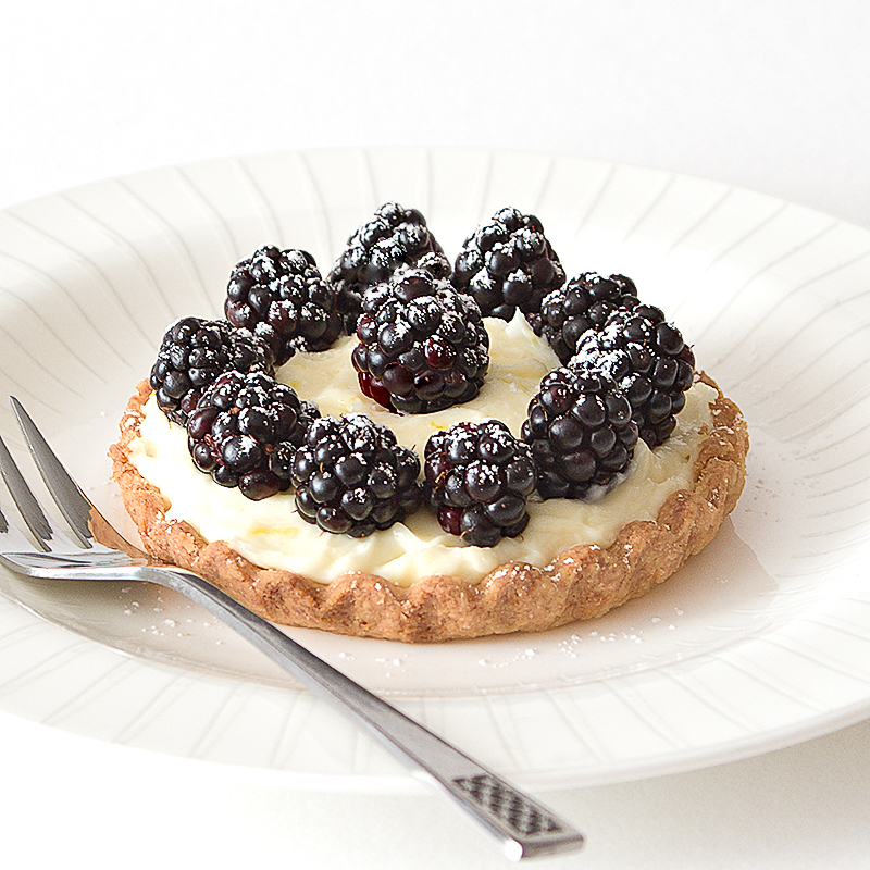 Blackberry and Cream Cheese Tartlets