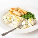 Haddock with Parsley and Cheese Sauce