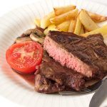 Steak in Red Wine Sauce