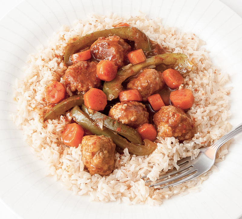 Pork Meatballs in a Sweet and Sour Sauce