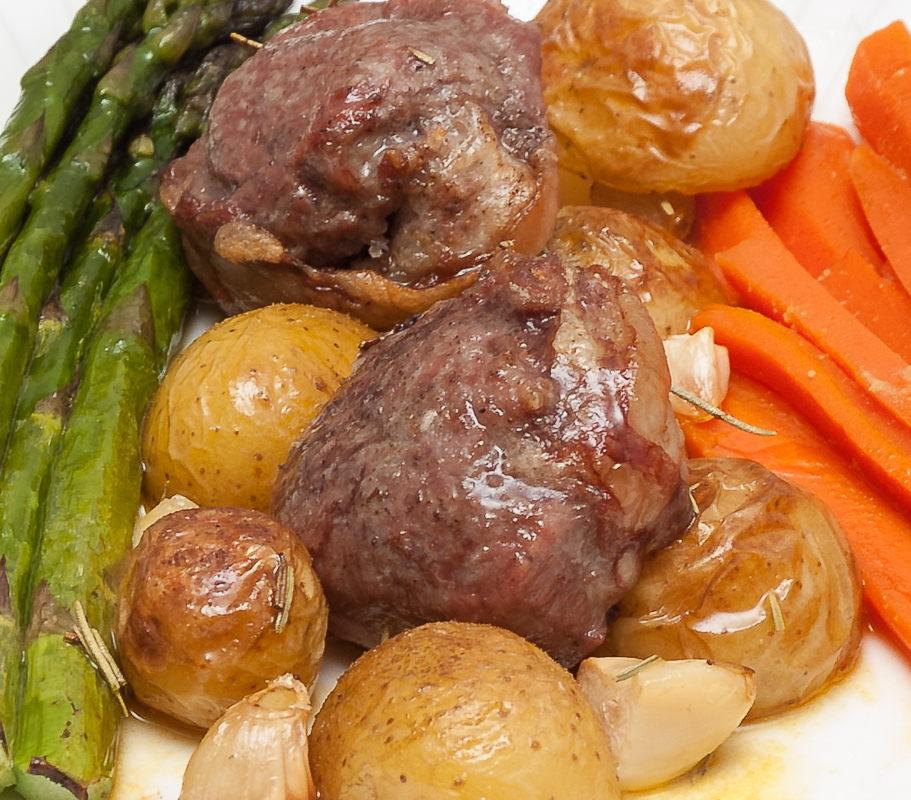 Lamb Noisettes with Spring Vegetables