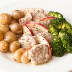 Fillet of Pork with Apples and Mustard Sauce