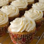 Carrot and Sultana Cupcakes with Cream Cheese Topping