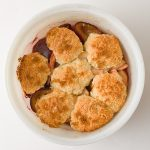 Plum and Apple Cobbler with Port